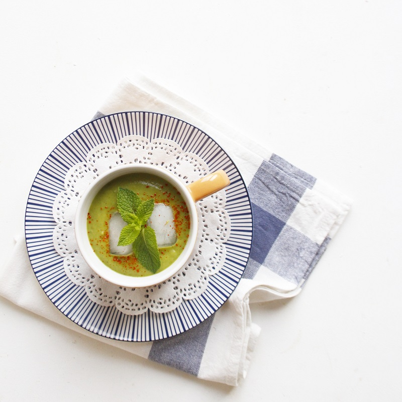 SOUPE GLACEE COURGETTE AVOCAT